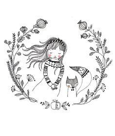 Marieke ten Berge 'A4 Poster Dream Girl'