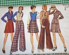 Vintage 1970s Sewing Pattern Simplicity 5855 Misses'