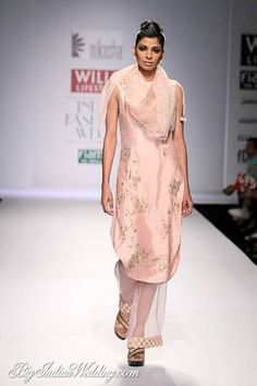 Nikasha Tawadey kurta with sheer bottoms