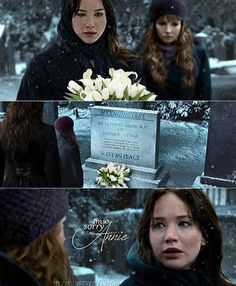 Katniss and Annie. I freaking . The feels... I miss Finnick so much. He should have never died. :'(