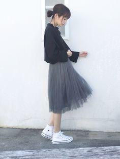 チュールスカートに挑戦してみたくて、プチプラで探しました☺️ いつも見て下さりありがとうございます✨ Twitter @mai_askr Instagram @maiasakura