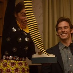The Black and Yellow striped Bumblebee tights that Emilia Clarke (Louisa Clark) gets as a present and wears in the movie Me Before You (2016) -…