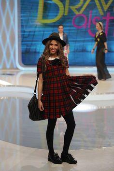 EDITIA 72 Tartan Dress, Dress Hats, Hipster, Cute, Red, Inspiration, Outfits, Oxfords, Black