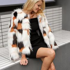 Elegant Faux Fur Coat