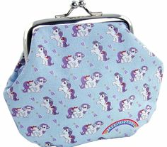 MY Little Pony Coin Purse Look after your pennies with this super cute coin purse featuring an all-over My Little Pony retro print. Keep those pony fund pennies nice and safe in this groovy little accessory! http://www.comparestoreprices.co.uk/novelty-gifts/my-little-pony-coin-purse.asp