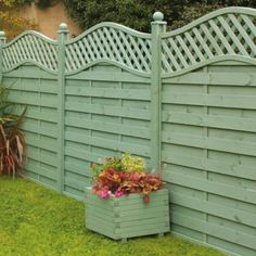 Woodbury Pre-painted Fence Panels, Green, (H)1.8x(W)1.8m, 5019063203230 ; 5019063203247 ; 5019063203254