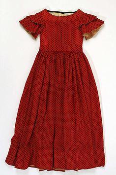 Dress, ca. 1842. American. The Metropolitan Museum of Art, New York. The Jacqueline Loewe Fowler Costume Collection, Gift of Jacqueline Loewe Fowler, 1983 (1983.478)