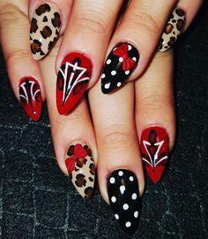 Rockabilly+and+pinstripes+by+Oli123+-+Nail+Art+Gallery+nailartgallery.nailsmag.com+by+Nails+Magazine+www.nailsmag.com+%23nailart More