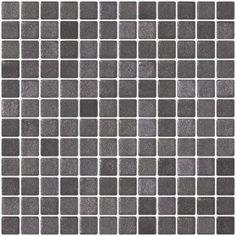1 Inch Storm Gray Textured Anti-slip Glass Tile