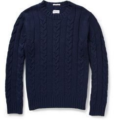 Gant Rugger Cable-Knit Crew Neck Sweater | MR PORTER