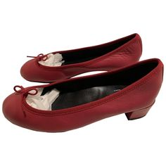 REPETTO \N RED LEATHER BALLET FLATS. #repetto #shoes