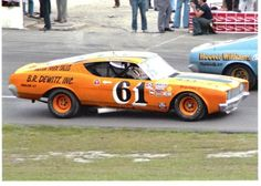 Richie Evans driving a Ford Torino in the NASCAR Sportsman Division.