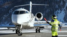 Snowy Mountain Plane Spotting | Bombardier Challenger 300 | Toyo Aviatio... Snowy Mountains, Plane, Aviation, Aircraft, Airplanes, Airplane