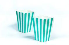 moushii Mini Popcorn Box Turquoise Stripes   www.moushii.com