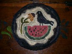 """""""Crow & Watermelon"""" Hooked on Primitives."""