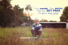 I am royalty, I have destiny, I have been set free, I'm gonna shake history!