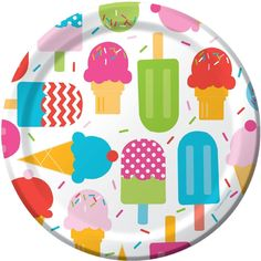 Amazon.com: Ice Cream Party Dinner Plates: Toys & Games