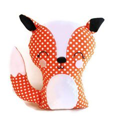 "Fox Bookend or Fox Softie Sewing Pattern Easy PDF Stuffed Toy Sewing Pattern for Woodland Nursery, Home Decor. $9.00, via Etsy seller ""G and G Patterns."""