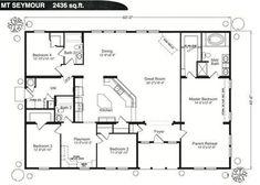 Image result for large rectangular home floor plans