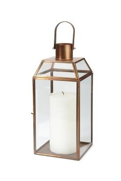outdoor porch light by Terrain Lantern Candle Holders, Candle Lanterns, Interior Styling, Interior Decorating, Patio Lanterns, Chalet Design, Copper Lantern, Home Landscaping, Garden Landscape Design