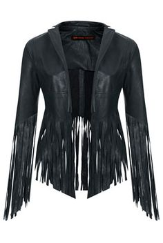 FRINGED LEATHER JACKET BY KATE MOSS FOR #TOPSHOP