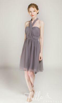 f8672c439f6 Short Convertible Bridesmaid Dress TBQP177P