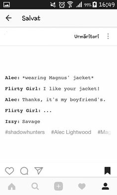 The best part is that Alec would say this innocently, not realising the girl is flirting with him << true