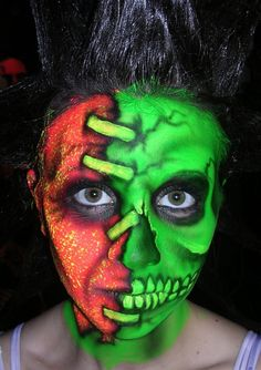 Another one from my Haunted House archive. With Halloween rapidly approaching, I am getting anxious to do more of this makeup work. Creepy Makeup, Horror Makeup, Zombie Makeup, Sfx Makeup, Prosthetic Makeup, Crazy Halloween Makeup, Halloween Make Up, Halloween Costumes, Halloween Ideas