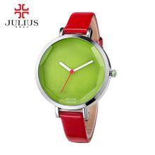 Hot 2016 Girls lovely Jelly watch women dress rhinestone watches fashion casual quartz watch leather wristwatch Julius 534 clock