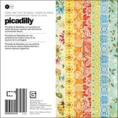 Beautiful colors in this paper pack! *Basic Grey PICADILLY 6 x 6 Cardstock Paper Pack 3531