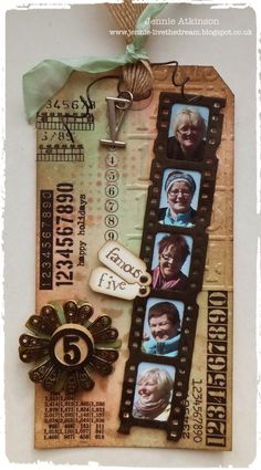 Live The Dream: My Special Number for A Vintage Journey using Tim Holtz, Ranger, Sizzix and Stamper's Anonymous products; Feb 2015