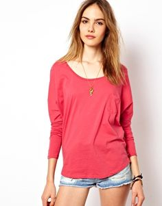 Maison Scotch Boxy Fit 3/4 Sleeve T-Shirt