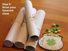 St. Patty's Day Treasure Hunt - Free Printables