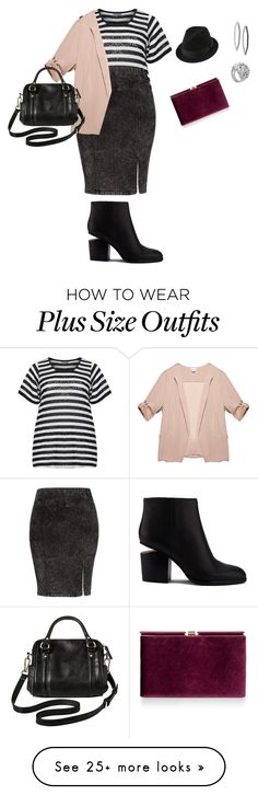 """""""plus size casual friday/happy chic"""" by kristie-payne on Polyvore featuring Zhenzi, City Chic, Wet Seal, Merona, Alexander Wang, Monsoon and Stephen Webster"""