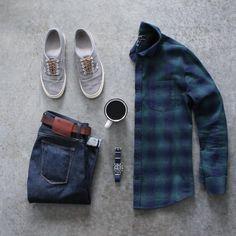 awalker4715 ☕️⌚️ Denim: @katobrand Shirt: @forever21men Shoes: @vans x @jcrew