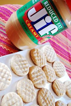 """Point-less"" Meals: Peanut Butter Cookies (Serves 72) WWPP=1 (each small cookie) {or Serves 36 WWPP=2 each cookie}"