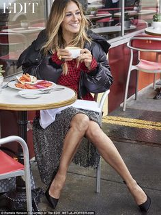 Legs eleven: Posing for a stunning accompanying shoot, the 51-year-old actress showed off her trademark flare for fashion in a bevvy of stunning looks before speaking candidly about her life, children and the show which made her famous