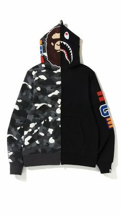 abce6bc28f45 eBay  Sponsored New BAPE City Camo 2nd Ape Shark Full Zip Black Size XL 100