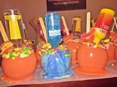 Drunken candy apples