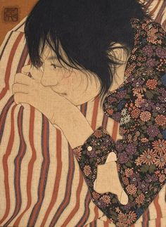 Ikenaga Yasunari - Japanese Illustration - Nihonga Style - Tomoko