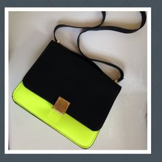Black & Neon Yellow Purse NO TRADES ONE SIZE         Poshmark Pinterest ootn ootd fashion Bags