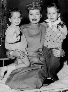 Me-TV fans!    Take a look at this photo of Lucille Ball with the Mayer twins who played little Ricky on I Love Lucy! Have you ever seen a photo of both twins together with the famous actress before?