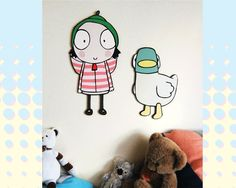 Sarah and Duck - Childrens Display by SuperfoxSigns on Etsy https://www.etsy.com/listing/473713903/sarah-and-duck-childrens-display