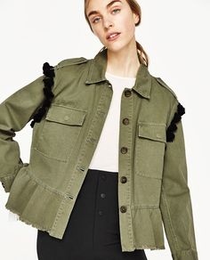 Image 5 of PARKA WITH EMBROIDERY AND POMPOMS from Zara