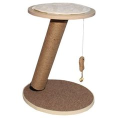 Purrrfect Life Round Tower Cat Scratching Post With Toy