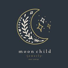 Moon Logo Design, Premade Logo, Photography Logo, Branding K… - Graphic Work Logo Branding, 2 Logo, Corporate Branding, Logo Inspiration, Fashion Logo Design, Web Design, Moon Design, Fashion Logos, Type Design