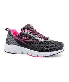 FILA Black & Dark Silver Forward 3 Running Shoe | zulily