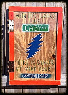 Items similar to Grateful Dead -Reclaimed wood wall art-wood signs-inspirational quote-recycled- dimensional art-wall art-music-KCdesignZ - Easy Street on ...  sc 1 st  Pinterest & Barn Wood Grateful Dead Sign - Grateful Dead Wall Art - Dead and ...