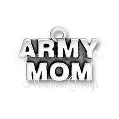 ARMY MOM Dangle Charm Pendant. MommasGoodys has Free Shipping on Orders Over 30