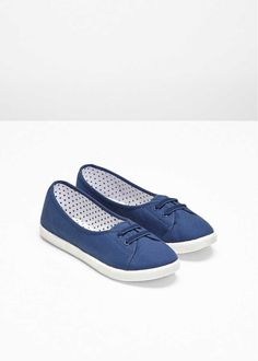Ballerinaskor, blå, strl. 38. Pris 129:- Bonprix.se Vans Classic Slip On, Sneakers, Shoes, Design, Fashion, Tennis, Moda, Slippers, Zapatos